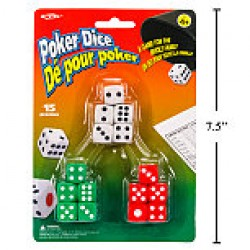 Poker Dice ~ 15 per pack