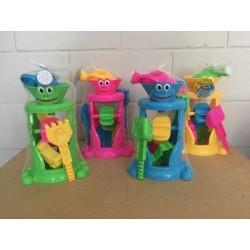 Frog Sand Wheel Beach Play Set ~ 6 pieces