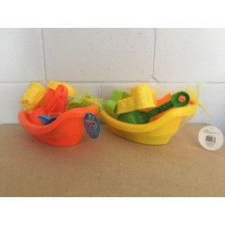 Large Tug Boat Beach Playset  ~ 7 pieces