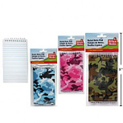 """Camouflage Notebooks - 3"""" x 5"""" ~ 3 per pack"""
