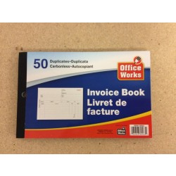 Invoice Book - Duplicates ~ 50 per book