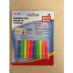 Highlighter Films ~ 20 sheets x 10 packs