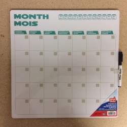 Dry Erase Monthly Planner ~ 13.5""