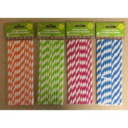 Paper Straws ~ 12 per pack