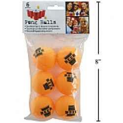 Beer Pong Balls ~ 6 per pack