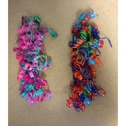 Multi Colored Thin Curly Ribbons ~ 3/pc
