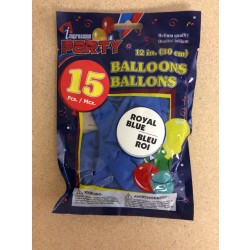 "12"" Round Balloons - Blue ~ 12 per pack"