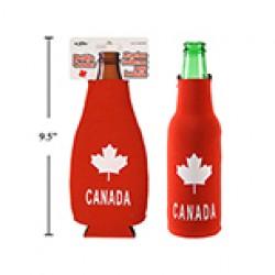 """Canada Bottle Cooler w/Zipper ~ 7""""H"""