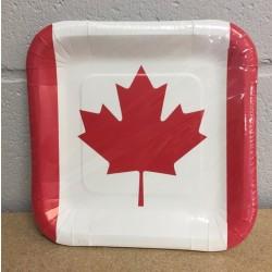 """Canada Square Paper Plates - 9"""" ~ 8/pk"""