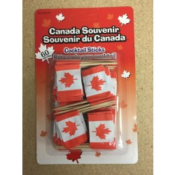 Canada Flag Cocktail Sticks ~ 60 per pack