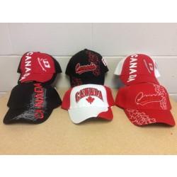 Canada Baseball Cap w/Embroidery ~ 6 assorted
