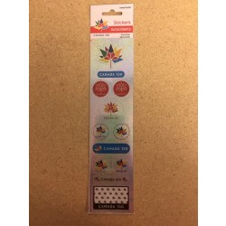 Canada 150 Flag Stickers