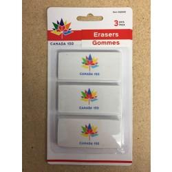 Canada 150 - Erasers ~ 3 per pack