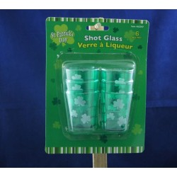 St. Patrick's Day Plastic Shot Glasses ~ 6 per pack