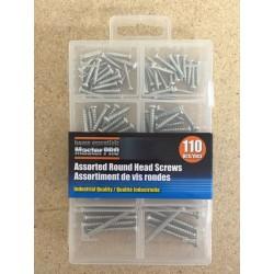 Roundhead Screw Assortment ~ 110 pieces