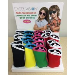 Kid's Sunglasses w/Case - Aviator Design ~ 24 pairs per display