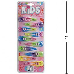 Kid's Snap Barrettes - Pastel Colors ~ 10 per pack