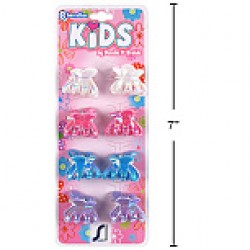 Kid's Mini Claw Clips w/Pearlized Finish ~ 8 per pack
