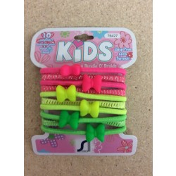 Kid's Ponyholders w/Bows ~ 10 per pack