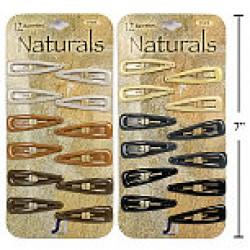 Naturals Epoxy Snap Barrettes ~ 12 per pack