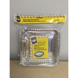 Foil Cake Square Pan w/Lid ~ 1 per pack
