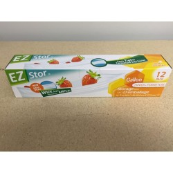 "EZ Stor Zipper Seal Storage Bags - 10-1/2"" x 11"" ~ 8 per box"