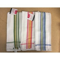 Luciano Striped Waffle Tea Towel ~ 1 per pack