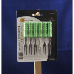 Luciano Cocktail Forks ~ 6 per pack