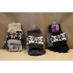 Knitted Flap Gloves w/Lining