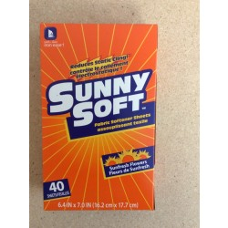 Sunny Soft Fabric Softener Sheets ~ 40 per pack
