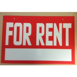 "Corrugated Plastic Sign - 16"" x 24"" ~ For Rent"