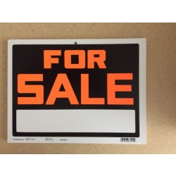 "PVC Sign - 9"" x 12"" ~ For Sale"