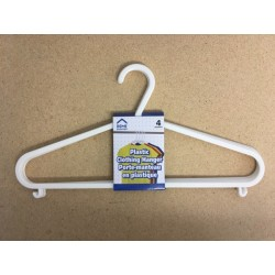 Plastic White Clothes Hangers ~ 4 per pack