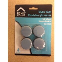 Slider Pads Floor Protectors - 1-3/4 {40mm} Diameter ~ 4 per pack