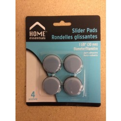 Slider Pads Floor Protectors - 1-1/8 {30mm} Diameter ~ 4 per pack