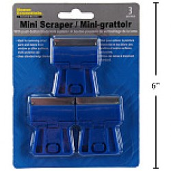 Plastic Mini Scrapers ~ 3 per pack