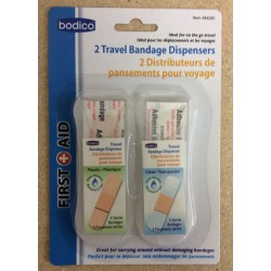 Travel Bandages in Plastic Dispensers ~ 2 per pack