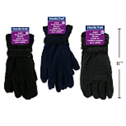Adult Polar Fleece Gloves w/Velcro Strap