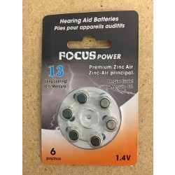 Hearing Aid Batteries #13 ~ 6 per pack