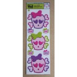 """Wall Art ~ """"Pink Skulls"""""""