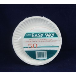 "White Paper Plates - 6"" ~ 50 per pack"