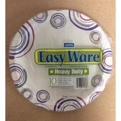 """Heavy Duty Paper Plates - 10-1/16"""" ~ 10 per pack"""