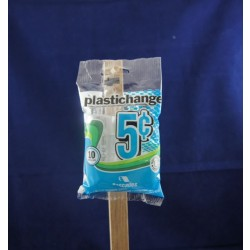 Plastic Coin Wraps - 5 cent ~ 10 per pack
