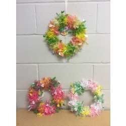 Easter Tinsel Wreath ~ 9""