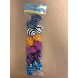 Fillable Easter Eggs - Animal Print ~ 12 per pack