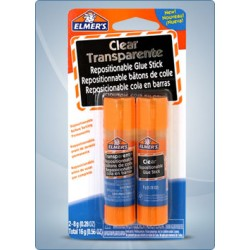 Elmer's Clear Repositionable Glue Stick ~ 2 x 8 gram