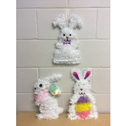 Easter Tinsel Bunny Wall Decoration