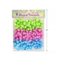 """Easter Matte Bows - 3.5"""" ~ 9 per pack"""