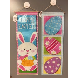 "Easter Non-Woven Printed Easter Banner w/Pole & String ~ 30""L"