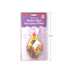 "Easter Pink Cello Basket Bags - 22"" x 25"" x 8"" ~ 2 per pack"